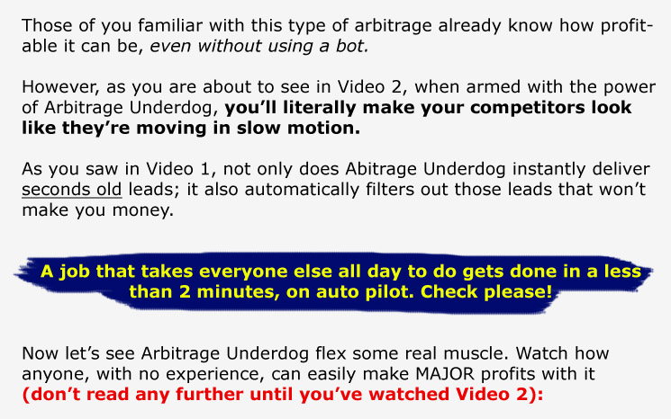 page2 Arbitrage Underdog Pro wso of the day wso software 2 seo 2 keyword software affiliate marketing